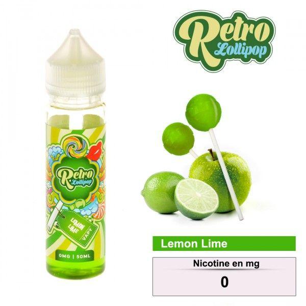 E-LIQUIDE RETRO LOLLIPOP LEMON LIME